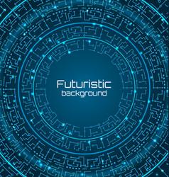 Futuristic background digital template techno vector