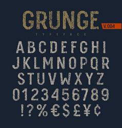grunge font 006 vector image