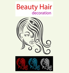Hair beauty icon vector