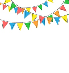 Hand-drawn buntings isolated on white vector