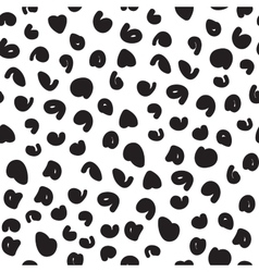 hand-painted seamless pattern with cheetah vector image