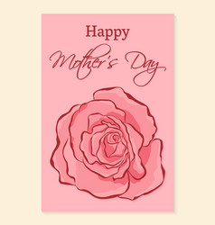 Happy mothers day greeting card a beautiful vector