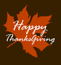 happy thanksgiving day template vector image