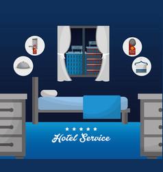 Hotel service building vector