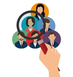 Human resources recruit search design isolated vector