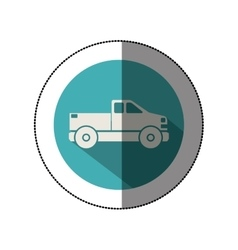 Isolated pick up vehicle vector