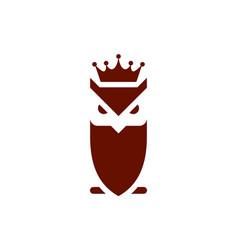 king owl logo icon concept vector image