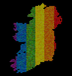 Lgbt pixel ireland map vector