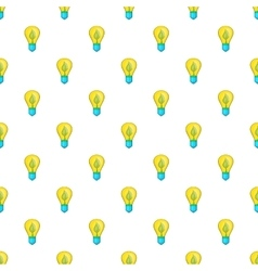 Light bulb with sprout pattern cartoon style vector image