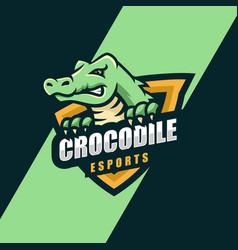 Logo crocodile e sport and sport style vector