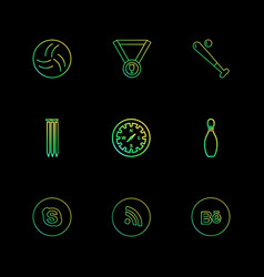 Medal compass skype wifi behance sports vector