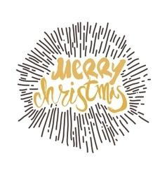 Merry Christmas calligraphy Handwritten modern vector