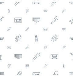 Musical icons pattern seamless white background vector