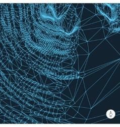 Network background 3d technology vector image