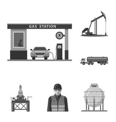 Oil and gas icon vector