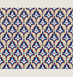 oriental floral tile ornament abstract geometric vector image