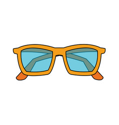 pastel blue sunglasses icon image vector image