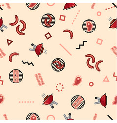 Pattern barbecue party weekend grill vector