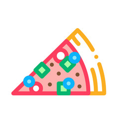 piece of pizza icon outline vector image