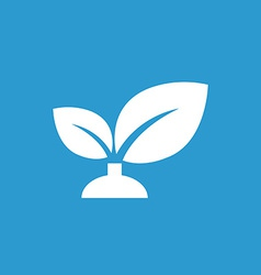 plant icon white on the blue background vector image
