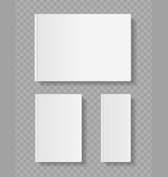 realistic detailed 3d white blank empty template vector image