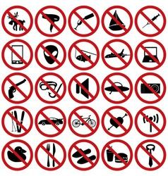 restriction sign set eps10 vector image