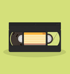Retro video cassette isolated on a white vector