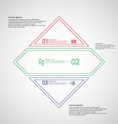 Rhombus infographic template divided to three vector