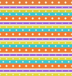 Seamless Vintage texture with Stripes and Circles vector image vector image