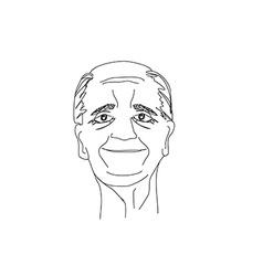 Senior man portrait vector