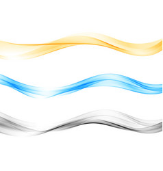 Set blend abstract wave color wave flow vector