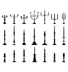 silhouettes candlesticks vector image