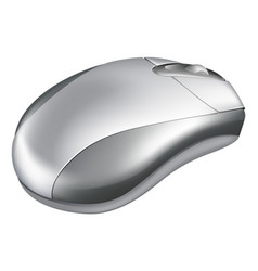 silver mouse vector image