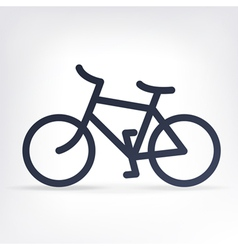 Simple bicycle icon vector