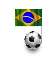 Soccer Balls or Footballs with flag of Brazil vector image vector image