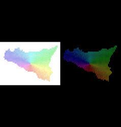Spectrum dot sicilia map vector