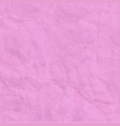 Texture of pink crumpled paper background vector
