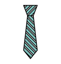 Tie accessory for men vector
