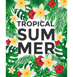 Tropical poster vector