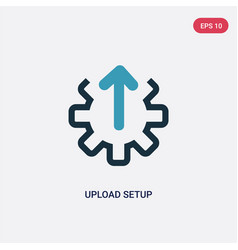 Two color upload setup icon from user interface vector