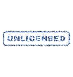 unlicensed textile stamp vector image