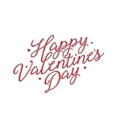 Valentines day lettering background Vintage vector image