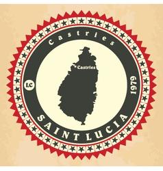 Vintage label-sticker cards of Saint Lucia vector