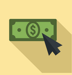 web money click icon flat style vector image