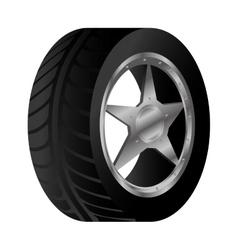 wheel car emblem icon vector image