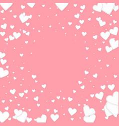 White heart love confettis valentines day vignet vector