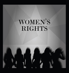 Woman right poster silhouette vector