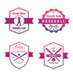 Baseball club team logo badges emblems vector