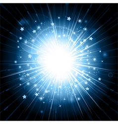 blue light explosion vector image vector image