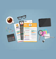 cv workspace with objects vector image